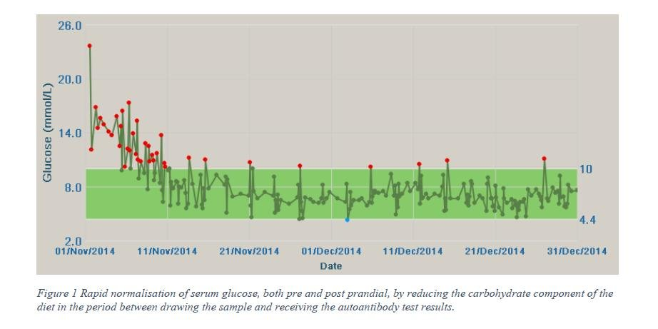 NZ case study; A citizen scientist controls autoimmune diabetes without insulin, with a low carb diet, a glucose meter, and metformin.