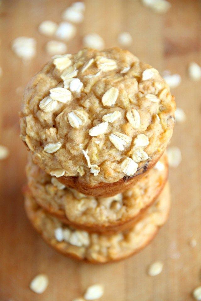 Apple Oat Greek Yogurt Muffins | Running With Spoons