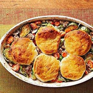 Beef And Vegetable Biscuit Bake