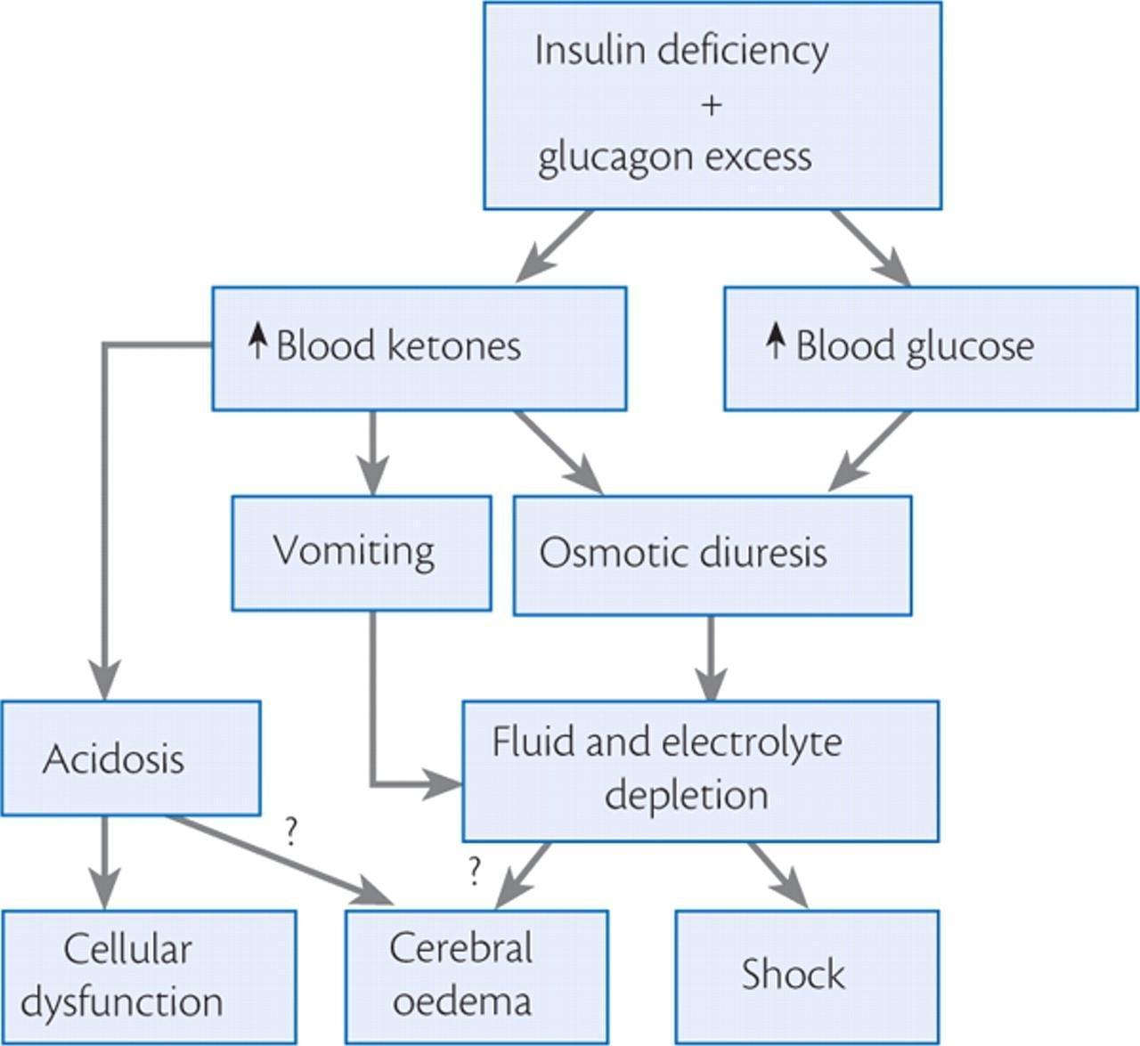 diabetic ketoacidosis cerebral edema mechanism