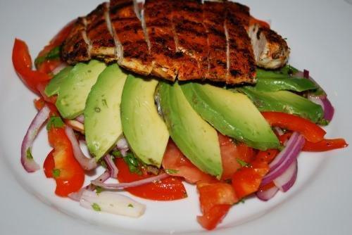 Blackened Chicken With Avocado Salad