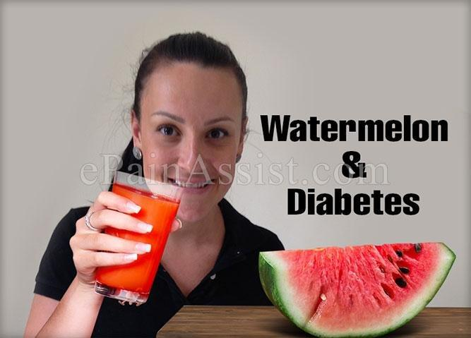 Watermelon Diabetes Blood Sugar