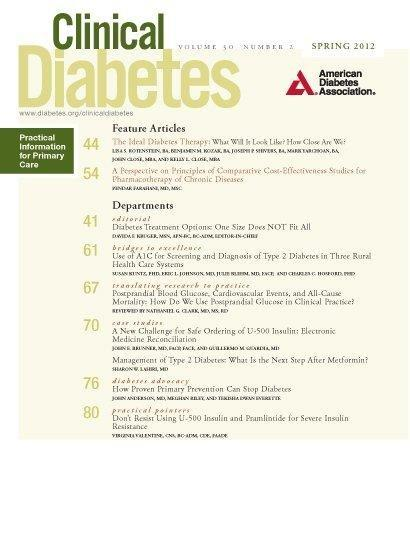 Management Of Type 2 Diabetes: What Is The Next Step After Metformin?