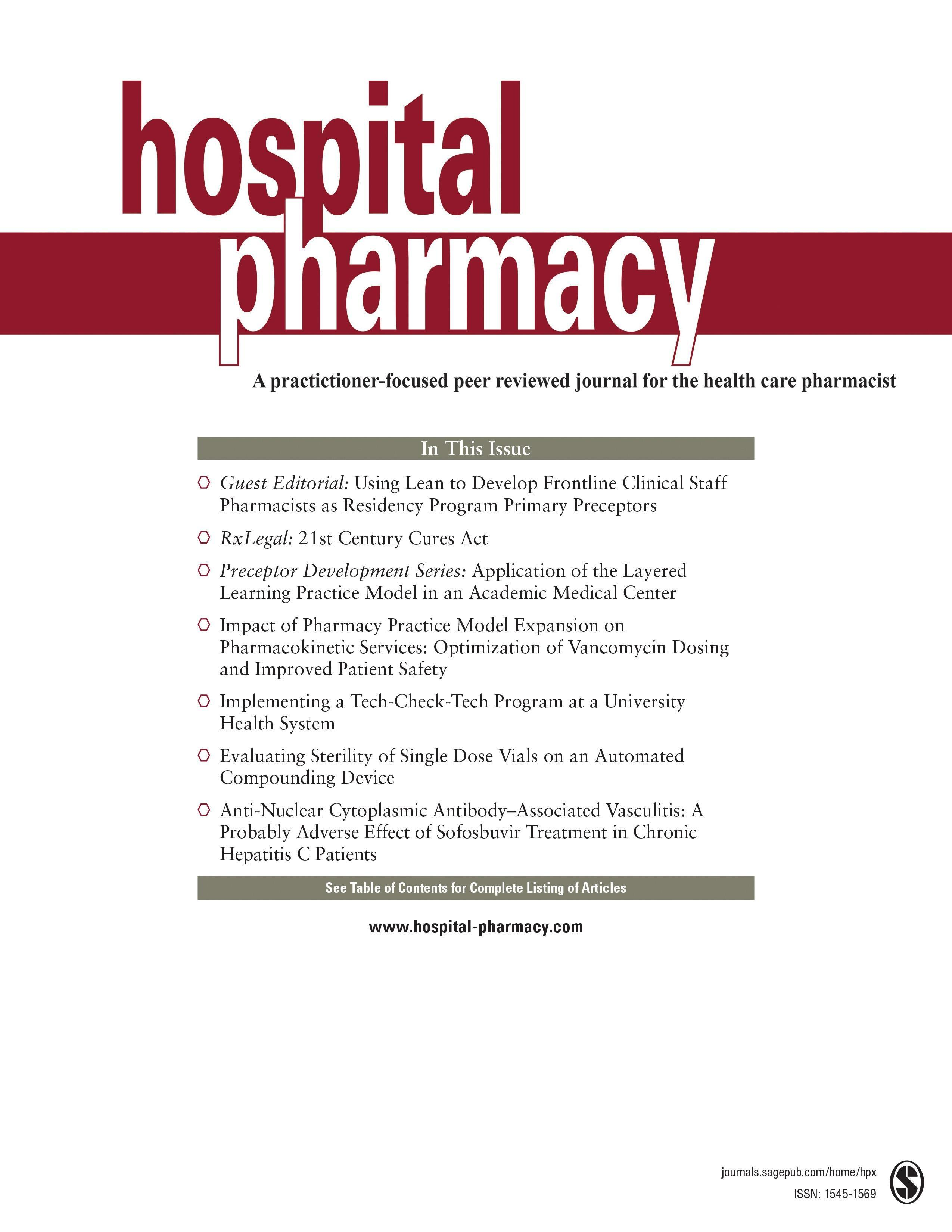 Questions And Answers From The F.i.x.; Insulin Aspart Vs Insulin Lispro; Phenothiazines And Contrast Media; Meperidine Removal From Formulary; Furosemide And Albumin As An Admixture