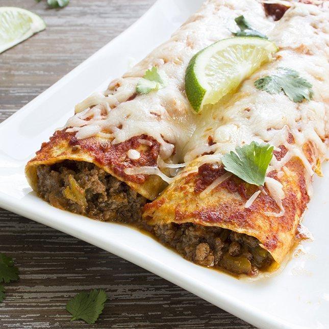 Diabetic Beef Enchiladas