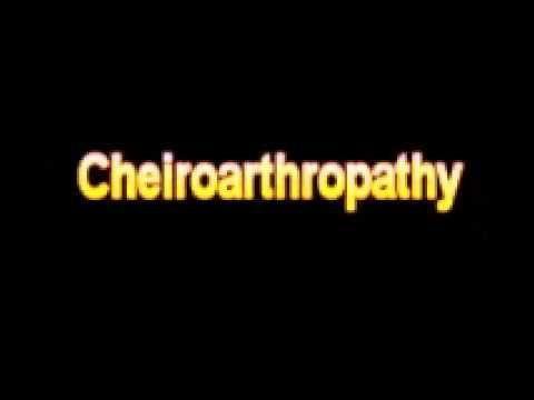 Diabetic Cheiroarthropathy