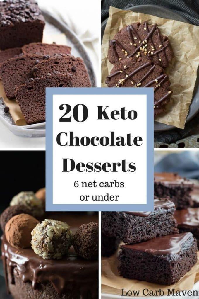 20 Decadent Chocolate Keto Desserts Under 6 Net Carbs!