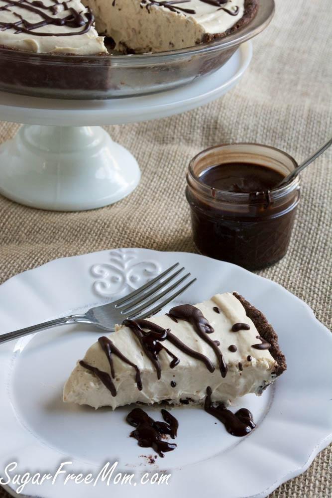 No Bake Sugar- Free Peanut Butter Cheesecake Mousse Pie {diabetic Friendly}