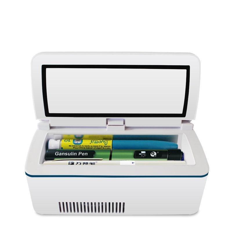 Portable Insulin Cooler Box Mini Fridge Insulin 2 Internal Batteries Car Adapter - $319.00 | Picclick