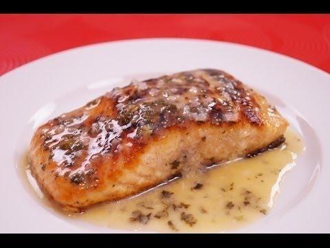 Seasoned Salmon With Lemon Caper Sauce