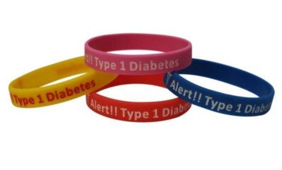 Diabetes Medical Alert Bracelet Type 1 Silicone Sports Travel Insulin (set Of 4)