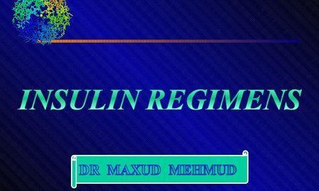 Insulin Regimen