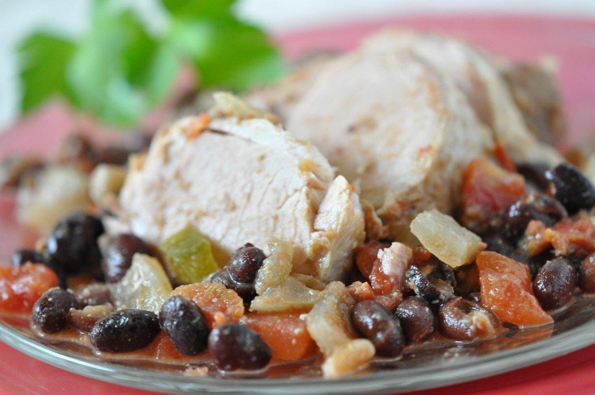 Easy Crock Pot Pork Recipes- Delicious Cuban Pork & Black Beans Dinner