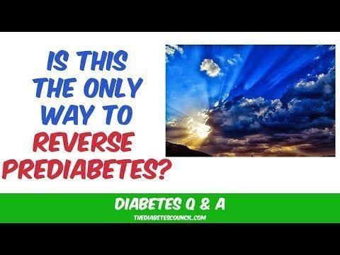 Can You Reverse Pre Diabetes?