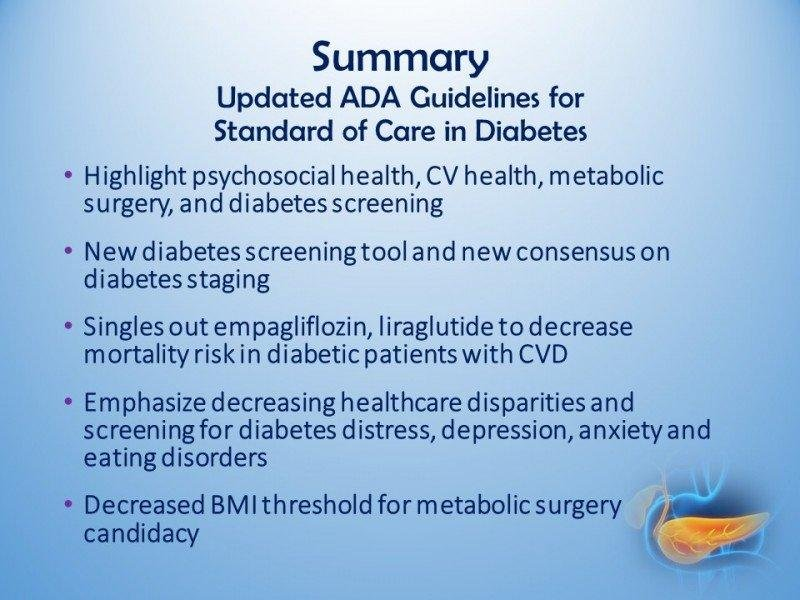 Standards Of Medical Care In Diabetes 2017
