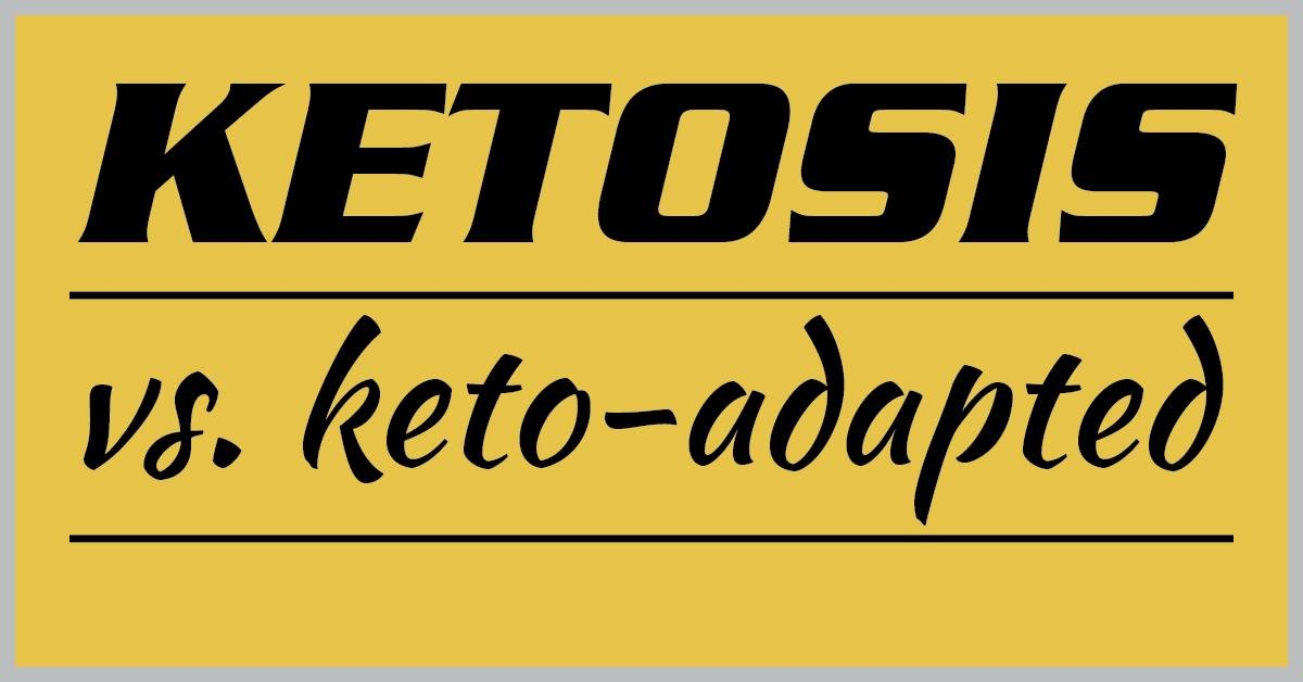 Ketosis Vs Keto-adapted
