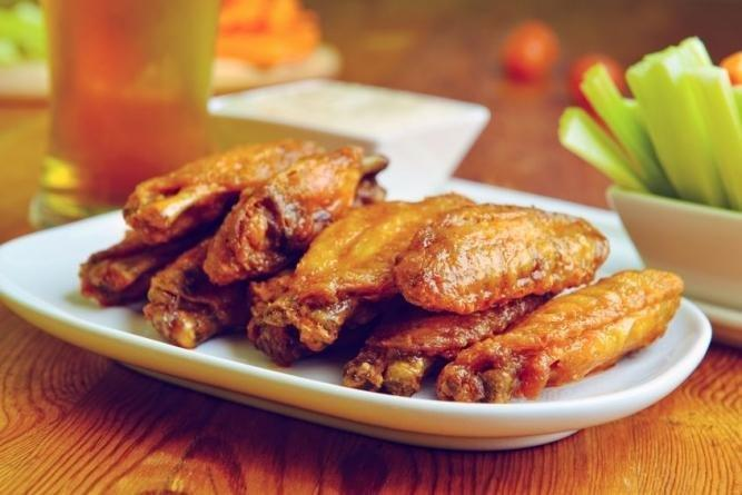 Tequila-marinated Hot Chicken Wings