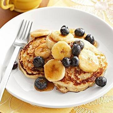 Diabetic Blueberry Pancakes
