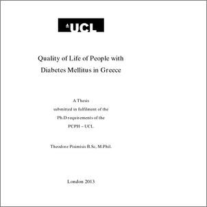 Quality Of Life Of People With Diabetes Mellitus In Greece