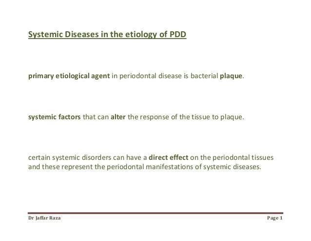 013.systemic Diseases In The Etiology Of Periodontal Disease