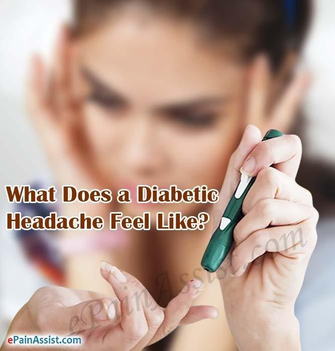 What Does A Diabetic Headache Feel Like?