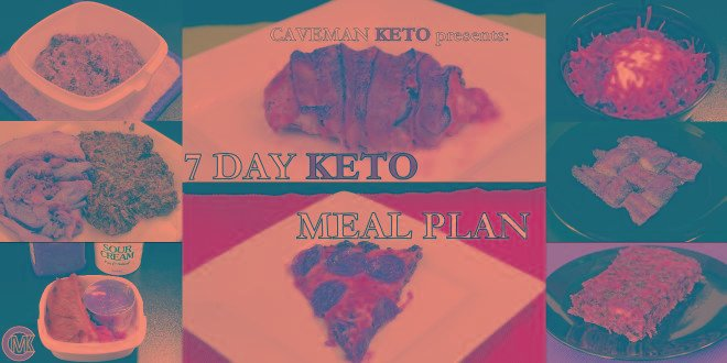 Caveman Keto's 7 Day Keto Meal Plan