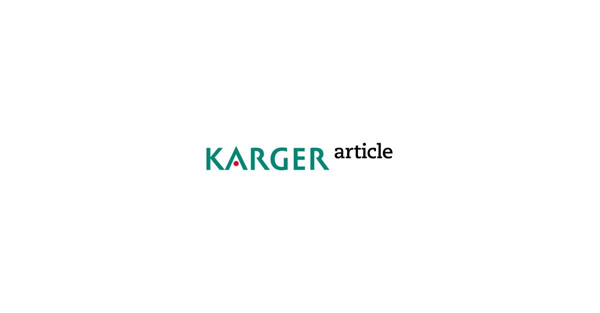 Payperview: Serum Potassium Concentration In Acidemic States - Karger Publishers