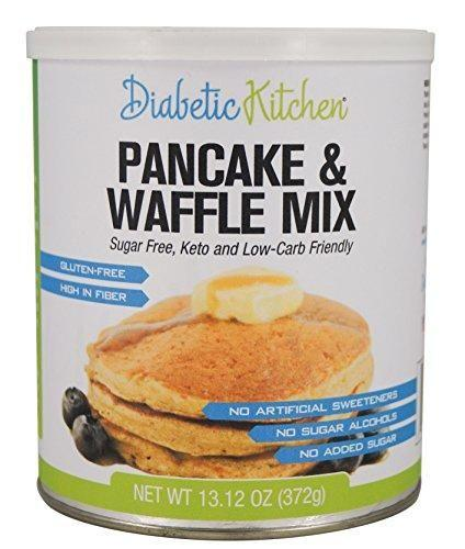 Diabetic Kitchen Pancake & Waffle Mix Sugar-free, Gluten-free, High-fiber, Keto-friendly, Low-carb, No Artificial Sweeteners Or Sugar Alcohols 13.12 Oz