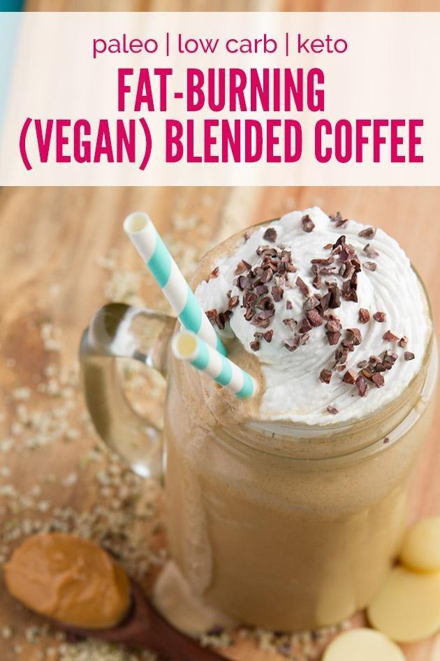 Vegan Fat-burning Rocket Fuel Iced Blended Coffee (low-carb, Paleo + Keto)