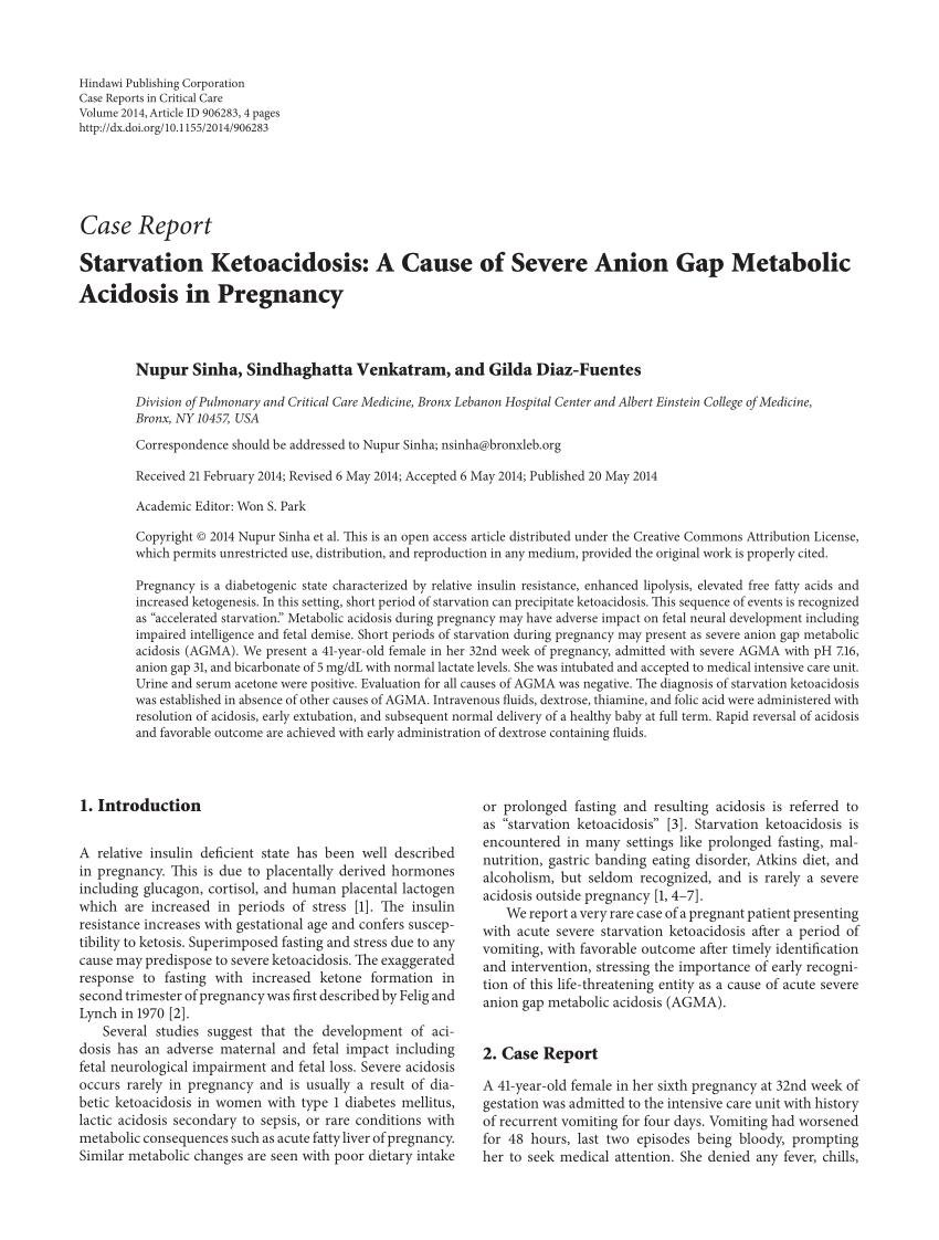 Starvation Ketoacidosis: A Cause Of Severe Anion Gap Metabolic Acidosis In Pregnancy