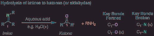 Hydrolysis Of Imines To Give Ketones (or Aldehydes)